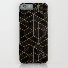 Black Marble Hexagonal Pattern Slim Case iPhone 6