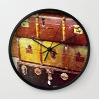 shabby chic Wall Clocks featuring Shabby Chic  by TNP Photography