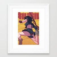 kill la kill Framed Art Prints featuring Kill la Kill by MATT DEMINO