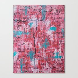 Red Tags & Throws Canvas Print
