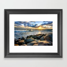 Sea Rocks Framed Art Print
