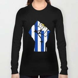 Team Uruguay Flag T Shirt Long Sleeve T-shirt