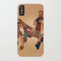 the big lebowski iPhone & iPod Cases featuring Big Lebowski by Dave Collinson