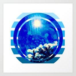 Blue Sky, healing, wall art, wall decor, spirituality,alternative Art Print