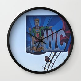 the king and his throne Wall Clock