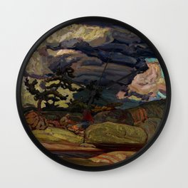 The Elements by James Edward Hervey MacDonald - Canada, Canadian Oil Painting - Group of Seven Wall Clock