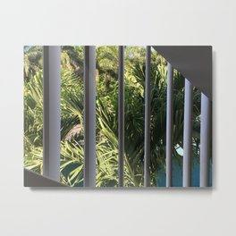 Sliced Palms Metal Print