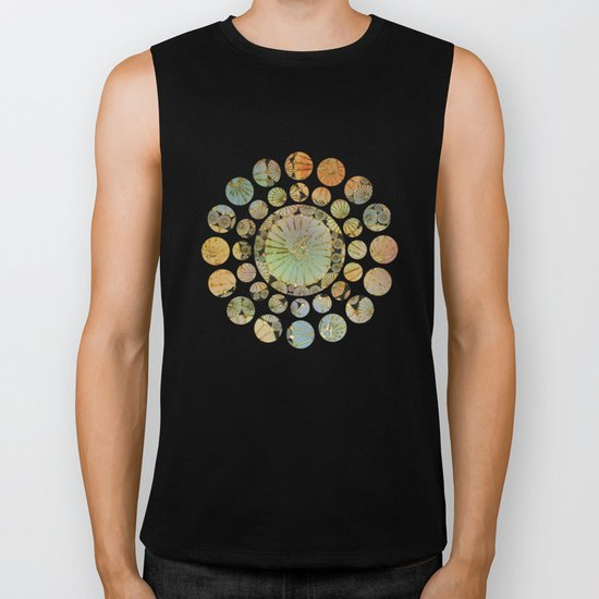 Abstract Floral Circles 2 Biker Tank