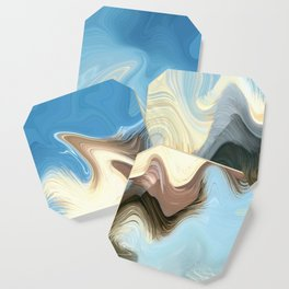 Hair Puzzle: digital abstract art Coaster
