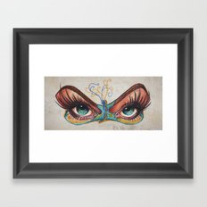 Butterflies eyes Framed Art Print
