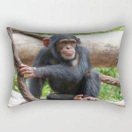 Chimpanzee_20150503_by_JAMFoto Rectangular Pillow