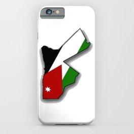Jordanian Map with Jordanian Flag iPhone Case