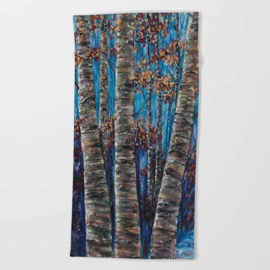 Aspen Forest In The Rocky Mountain Beach Towel