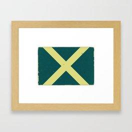 Nautical Flag Framed Art Print