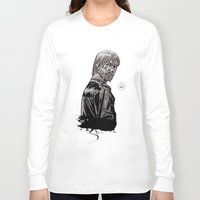 rick grimes Long Sleeve T-shirts featuring The Walking Dead Rick Grimes by Cursed Rose