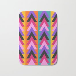 Multicolored arrows and bright stripes Bath Mat