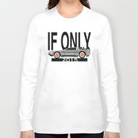 delorean Long Sleeve T-shirts featuring Future Delorean  by IF ONLY