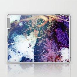 Snowy Leaves Laptop & iPad Skin