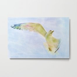 Dreamy Soft Seagull Metal Print