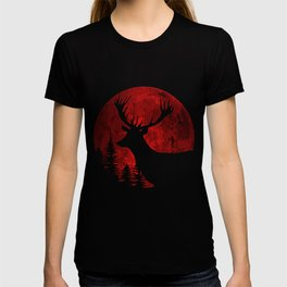 Deer In The Night Forest T-shirt