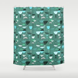 1950s Fabric Design #9 Shower Curtain