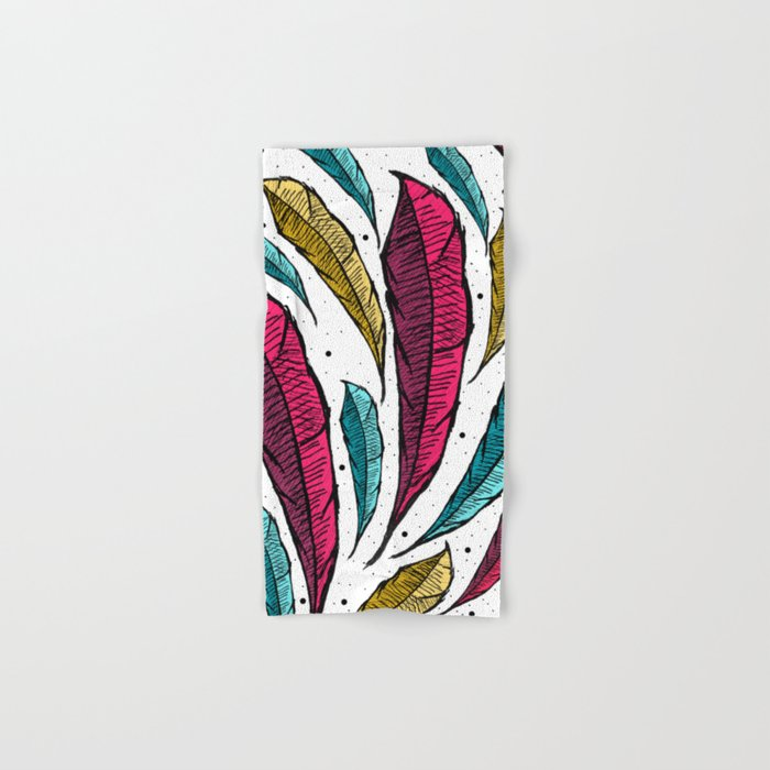 Feather Leaves Hand & Bath Towel