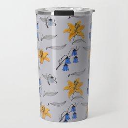 Lilies & Bellflowers Travel Mug