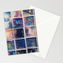Iridescent Squares Stationery Cards