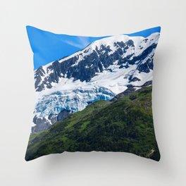 Whittier Glacier - 3 Throw Pillow