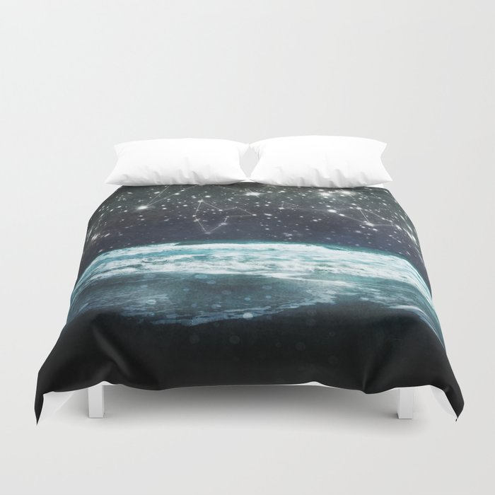 The Greek Upon the Stars Duvet Cover