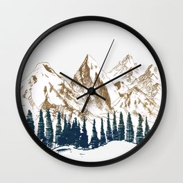 mountains 9 Wall Clock