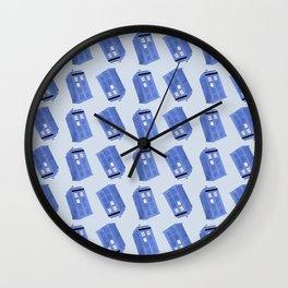Doctor Who, Tardis pattern Wall Clock