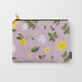 Yellow Flowers & White Roses 4 Carry-All Pouch