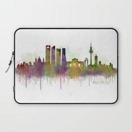 Madrid City Skyline HQ v5 Laptop Sleeve