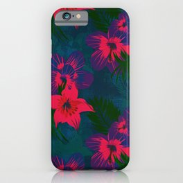 Tropical Floral Pattern iPhone Case
