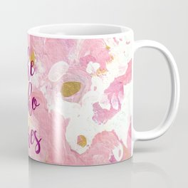 She Who Dares Pink Rose Gold Coffee Mug