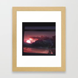 Temples and Sunset Framed Art Print