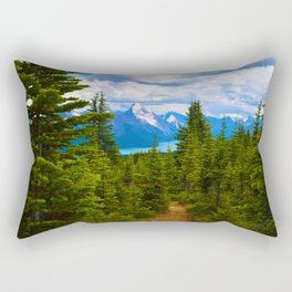 Maligne Lake from Above on the Bald hills hike in Jasper National Park, Canada Rectangular Pillow