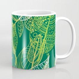 Lovely green leaves pattern illustration Coffee Mug