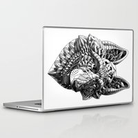 german shepherd Laptop & iPad Skins featuring German Shepherd by BIOWORKZ