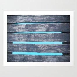 Plank Walking Art Print