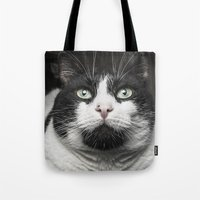 kitty Tote Bags featuring Kitty Cat by Joao Bizarro