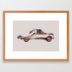 Drive me back home 3 Framed Art Print