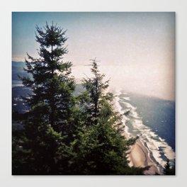 Neahkahnie Mountain Beach Oregon Coast Photo Forest Canvas Print
