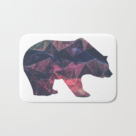 Bear - Geometric Galaxy Bath Mat