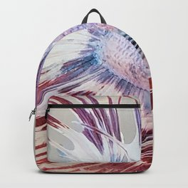 Red Betta Fish Fins Backpack
