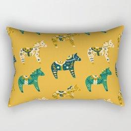 Dala Horse Pattern Rectangular Pillow