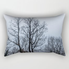 Naked tree in a foggy day Rectangular Pillow