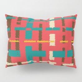 Colorful line segments Pillow Sham