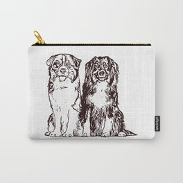 Australian Shepherd working dog for dog lovers Carry-All Pouch